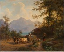 Gustav Meissner (German, 1830-1930) Mountain landscape