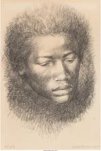 Charles Wilbert White (American, 1918-1979) Head, 1967 Lithograph 11-1/8 x 7-1/2