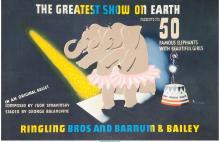 E. McKnight Kauffer (American, 1890-1954) Ringling Brothers Circus, 1942 Lithogr