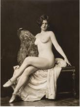 Alfred Cheney Johnston (American, 1885-1971) Seated nude Gelatin silver 13 x 9-3