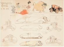 American School (20th Century) Construction of Mortimer's Car, Mickey's Rival, c