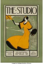Leon Victor Solon (British, 1872-1963) The Studio advertisement Lithograph on pa
