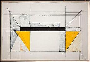 BRUCE ROBBINS (American, b. 1948) Bridge Variation #9,