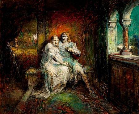 FERDINAND LEEKE (German, 1859-1959) Lohengrin: Act III