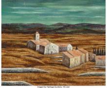 JEAN-PIERRE CAPRON (FRENCH, 1921-1997) LANDSCAPE, 1960 OIL ON CANVAS 23-3/4 X 29
