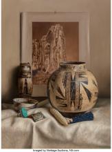 William Acheff (American, b. 1947) Old Zuni, 1984 Oil on canvas 38 x 28 inches (