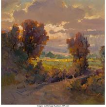 Ovanes Berberian (American, b. 1951) Hidden Sun Oil on canvas 36 x 36 inches (91