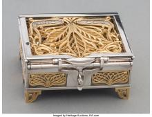 A YOSSI SWED PARTIAL GILT SILVER TRAVELING MENORAH, 20TH CENTURY MARKS: (S OVER