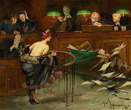 ARNOLD HOFFMAN (American, 1886-1966) Surprise in