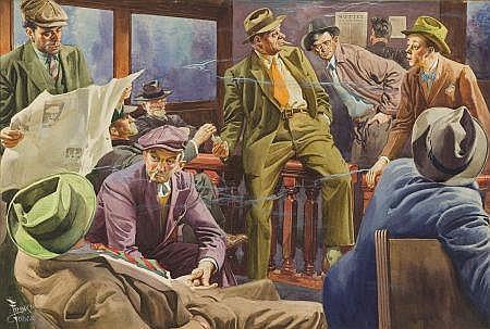 FRANK GODWIN (American, 1889-1959) The Press Room