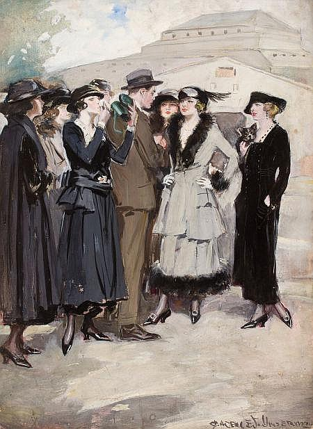 CLARENCE F. UNDERWOOD (American, 1871-1929) Group