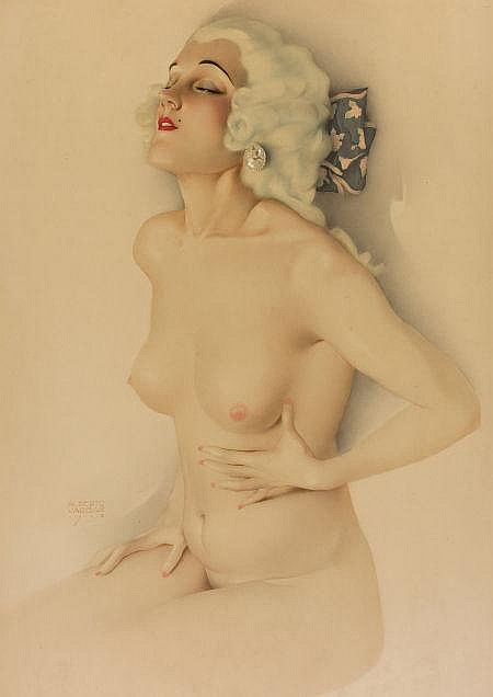 ALBERTO VARGAS (American, 1896-1982) Pin-up, 1928