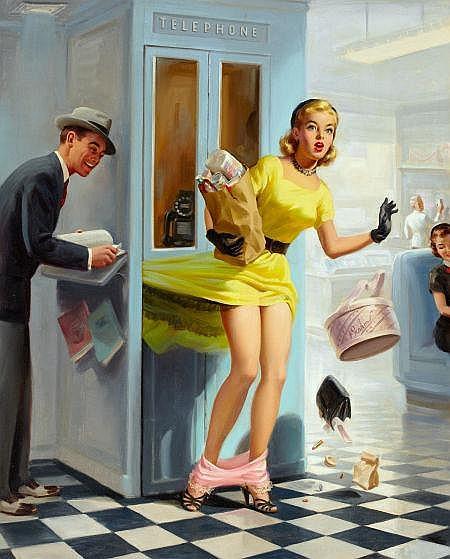 ART FRAHM (American, 1906-1981) Number Please,