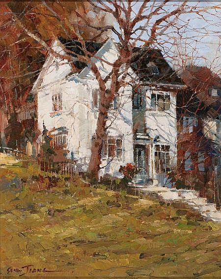 X. SONG JIANG (Chinese, b. 1955) White House on a Hill