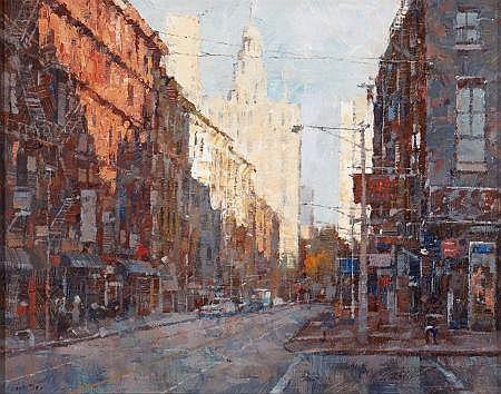 X. SONG JIANG (Chinese, b. 1955) New York Street Scene