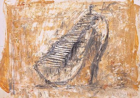 AGUSTIN BEJARANO (Cuban, b. 1964) Shoes Stairs, 2008 Ac
