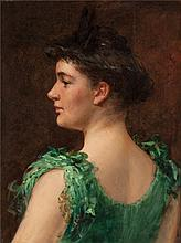 JAMES CARROLL BECKWITH (American, 1852-1917) The Green