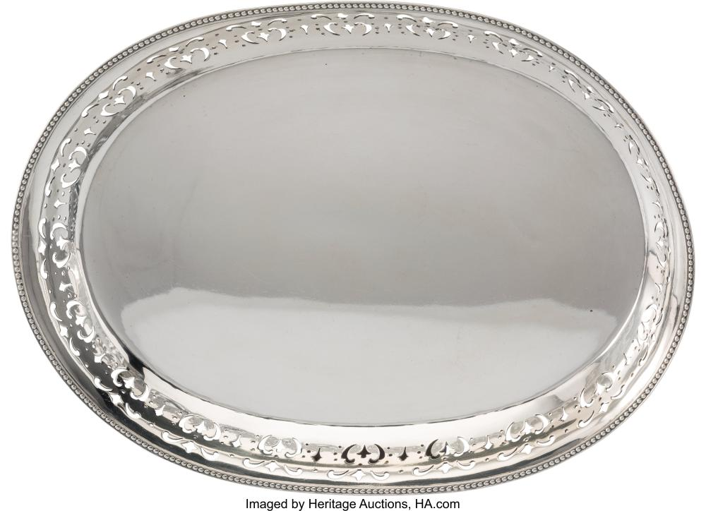 A Tiffany & Co. Silver Tray, New York, 1903-1904 Marks: TIFFANY & CO., 15829, MA