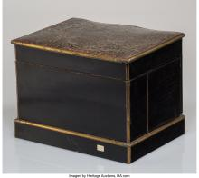 Lot 21002: A Napoleon III Boulle-Style Marquetry Cave à Liqueur, mid-19th century 10 x 13-1