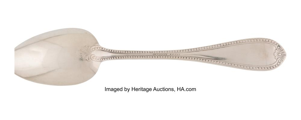 Lot 21036: Twenty-One American Silver Flatware Pieces, late 19th-early 20th century Marks:
