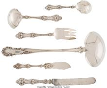 Lot 21027: Six Pieces of Alvin-Biederhase Co. Silver Serving Flatware, Providence, Rhode Is