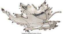 Lot 21057: A Mario Buccellatti Maple Leaf-Form Silver Dish, Milan, pre-1971 Marks: M. BUCCE