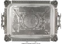 Lot 21060: A Simpson, Hall, Miller & Co. Silver-Plated Tray, Wallingford, Connecticut, circ