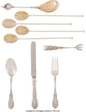Lot 21049: Nine Pieces of Gorham Silver Flatware, Providence, Rhode Island, late 19th-early