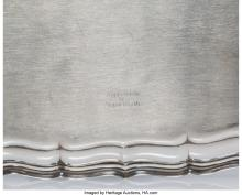 Lot 21059: A Frank W. Smith Silver Co., Inc. Chippendale Pattern Silver Tray, Gardner, Mass