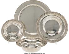Lot 21070: Four American Silver Table Articles, late 19th-early 20th century Marks to Tiffa