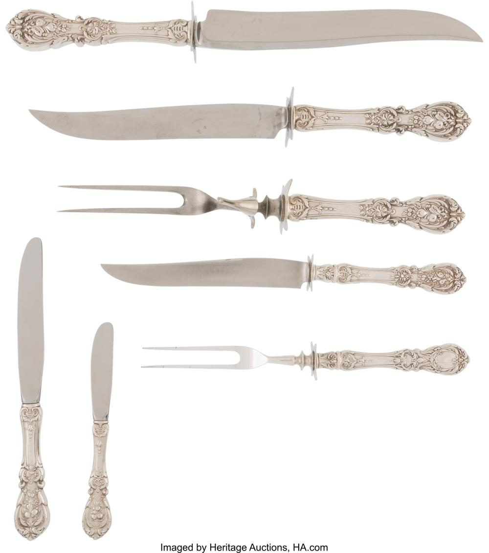 Lot 21062: A Twenty-Six-Piece Group of Reed & Barton Francis I Pattern Silver Flatware, Tau