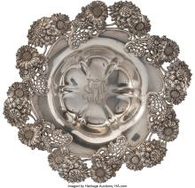 Lot 21068: A Dominick & Haff Silver Center Bowl Retailed by Bailey, Banks & Biddle Co., New