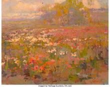 Lot 21080: Galust Berberian (American, b. 1955) Field in Bloom Oil on canvas 22 x 28 inches