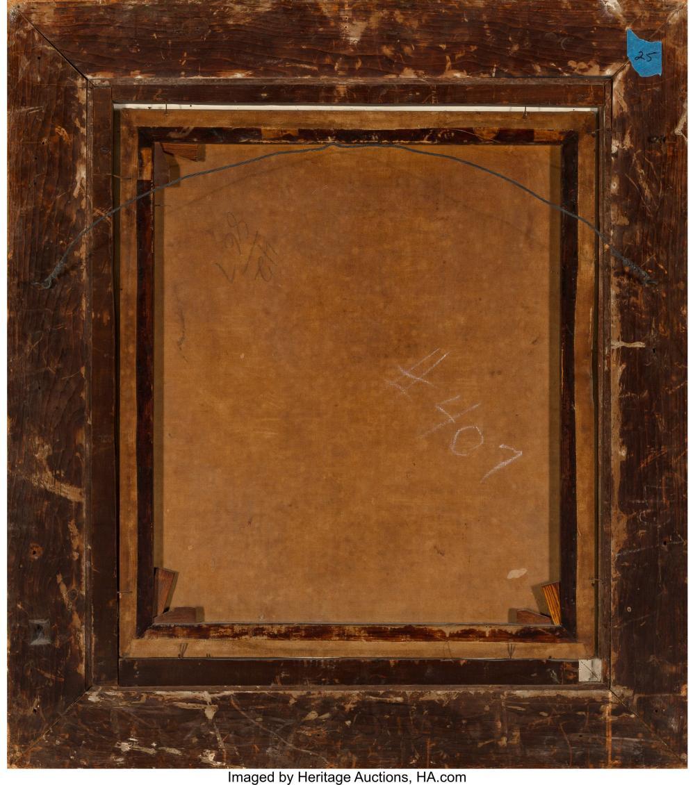 Lot 21074: American School (19th Century) Portrait of a Quaker Gentleman Oil on canvas 29 x
