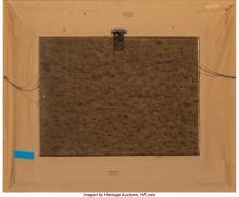 Lot 21097: Douglas Ricks (American, 1954-2003) Keeping Warm Oil on Masonite 17-1/2 x 23-1/2
