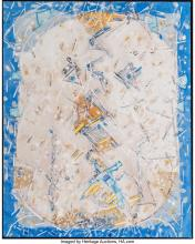 Lot 21087: Lee Mullican (American, 1919-1998) Watching Head, 1983 Oil on canvas 30 x 24 inc