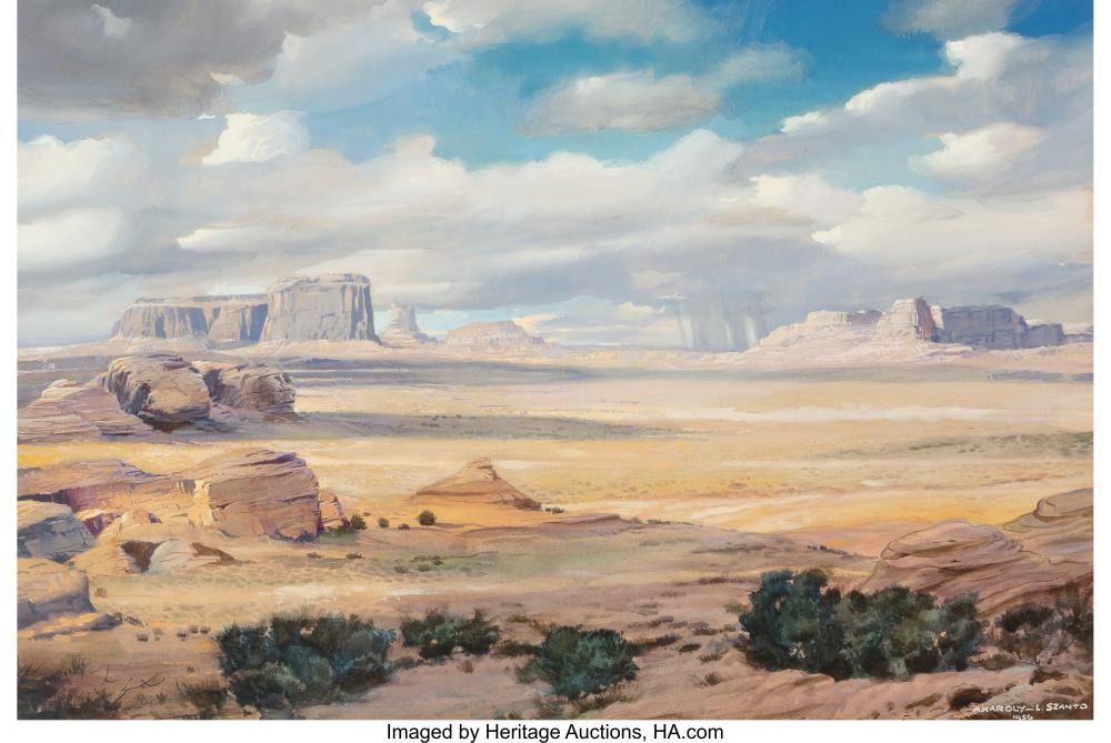Andrew B. Karoly and Louis P. (Lajos) Szanto (American, 20th Century) Buttes in