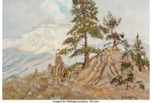 Lot 21095: Glen Spencer Hopkinson (American, b. 1946) Mountain Country Oil on Masonite 14 x