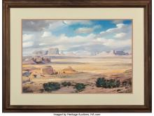 Lot 21096: Andrew B. Karoly and Louis P. (Lajos) Szanto (American, 20th Century) Buttes in