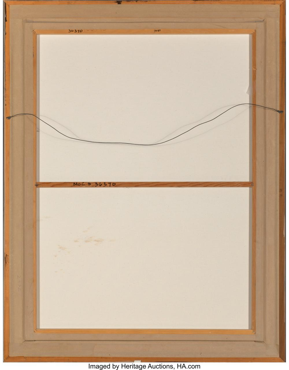 Lot 21100: Marc Inge Saastad (American, b. 1940) Untitled (Crashing Waves), 1980 Acrylic on