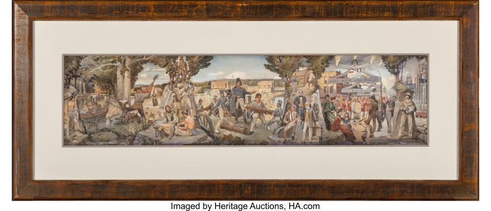 Lot 21107: Andrew B, Karoly and Louis P. (Lajos) Szanto (American, 20th Century) The Foundi