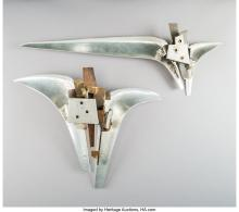 Lot 21109: 20th Century School Untitled (pair) Mixed metal