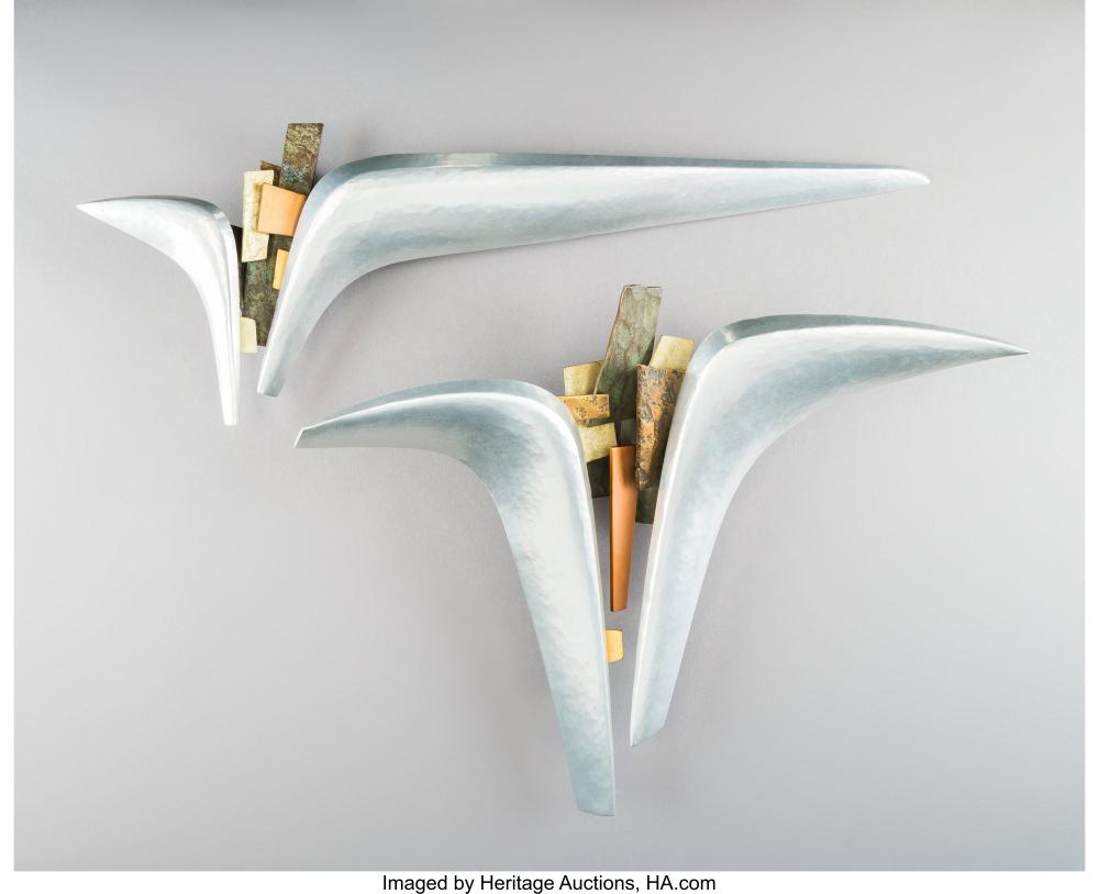 20th Century School Untitled (pair) Mixed metal