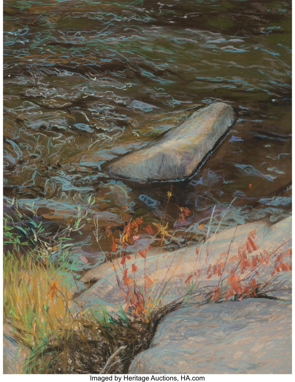 Kitty Wallis (American, b. 1938) Yuba River Pastel on paper 26-1/8 x 20-1/2 inch