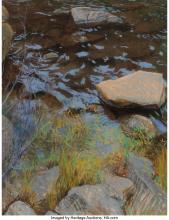 Lot 21114: Kitty Wallis (American, b. 1938) Yuba River, 1984 Pastel on paper 26-1/4 x 20-1/