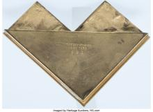 Lot 21135: Ten Tiffany Studios Gilt Bronze Bookmark Pattern Table Articles, 1899-1918 Marks