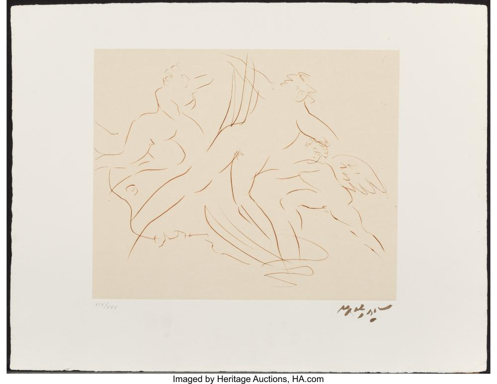 Lot 21127: Reuben Nakian (1897-1986) Europa and the Bull VI, c. 1970 Etching on paper 13-5
