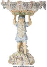 Lot 21142: An Austrian Partial Gilt Ceramic Figural Centerpiece, circa 1890 Marks: (four-le