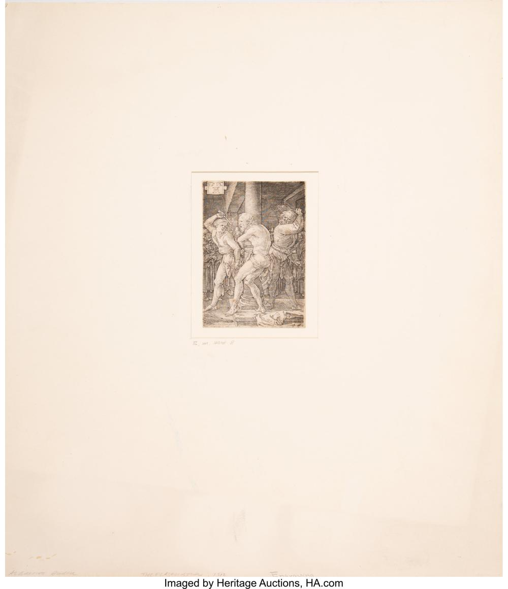 Lot 21164: Albrecht Dürer (German, 1471-1528) The Flagellation, from The Engraved Passion,