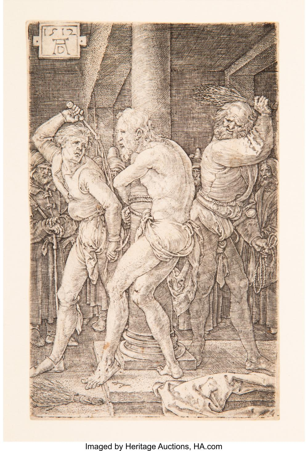 Albrecht Dürer (German, 1471-1528) The Flagellation, from The Engraved Passion,